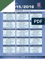 Calendrier PRO D2 2015-2016