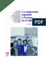 La emigración española a Europa en el siglo XX