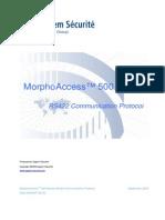 MorphoAccess 500 Series RS422 Communication Protocol