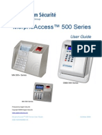 MorphoAccess 500 Series User Guide