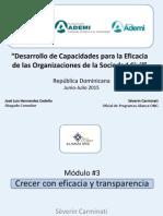 DesarrolloOSC 2015 Módulo #3 Crecer Con Eficacia y Transparencia