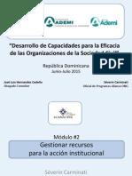 DesarrolloOSC 2015 Módulo #2 Gestionar Recursos Para La Acción Institucional