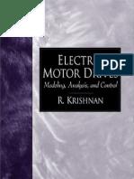Electric Motor Drives - Modeling, Analysis, And Control, 2001, R. Krishnan