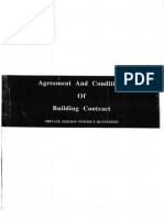 Agreement and Condition of Building Contract Without Quantities