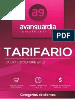 Tarifario - Avanguardia Diseño Grafico