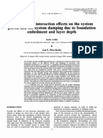 Evaluation of Interaction Effects on the System Period and the System Damping Due to Foundation Embedment and Layer Depth - IMPORTANTE