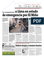 Peru 21 - 06-07-2015 - Declaran a Lima en estado de emergencia por El Niño.pdf