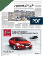 El Comercio - 09-06-2015 - Solo 3 Distritos acumulan el 83% de la basura de todo Lima.pdf