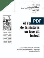 Concepto de la Historia de José Gil Fortoul