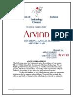 summer internship on Ankur textiles