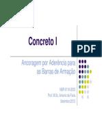 CONCRETO I - ANCORAGEM