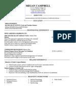 nutr health resume