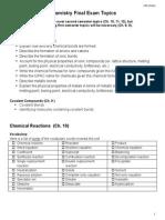 Final Exam Study Guide 2014 (High School Chem)