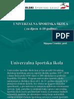 Prezentacija o univerzalnoj sportskoj školi u RH