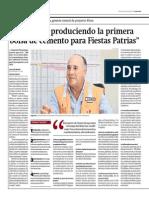 Gestión - 01-07-2015 - Cementos Pacasmayo - Estaremos produciendo la primera bolsa de cemento para fiestas patrias.pdf