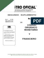 Codigo Organico Monetario Financiero Sept 14