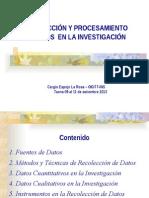 1 Recoleccion y Procesamiento de Datos en Investigacion
