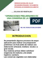Conserva Operaciones Preliminares