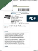Live Switcher AV-HS410