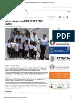 07-07-2015 en El CEDIF Satélite Tienen Más Aulas