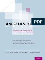 Anesthesiology Board Review