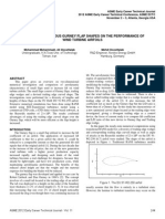 THE EFFECT OF VARIOUS GURNEY FLAP SHAPES ON THE PERFORMANCE OF WIND TURBINE AIRFOILS