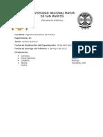 Informe de Química 3 - Enlace Químico