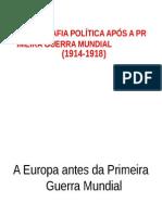 A Geografia Política Após a Primeira Guerra