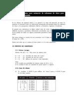 Parámetros Para Estimación de Volumenes de Obras Para Anteproyectos