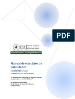 Manual Habilidades Matemáticas ITESA