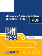 Manual Do Agente Censitário Municipal - Censo 2010