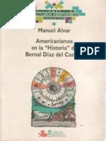Americanismos en La Historia de Bernal Díaz Del Castillo