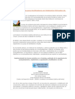 Buenas Prácticas Para Facilitadores en Ambientes Virtuales de Aprendizaje