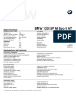 Ficha Técnica All New BMW 120i 5P M Sport At