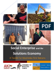 Social Enterprise and the Solutions Economy in First Nation Communities