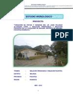 Estudio Hidrologico Drenaje Molinos Pista y Malecon
