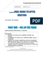 Survival Guide to Aptis Writing