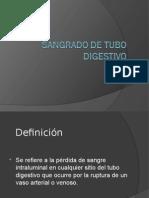 Sangrado de Tubo Digestivo