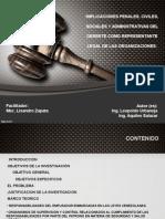 Presentación. Implicaciones Penales, Civiles, Sociales y Administrativas Del Gerente Como Representante Legal de Las Organizaciones.