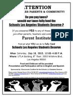 Instituto de Padres / Parent Institute