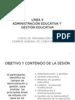 LÍNEA 5 Administración y Gestión
