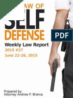 2015 #27 Self Defense Weekly Law Report