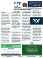 Pharmacy Daily for Fri 10 Jul 2015 - Pharmacy cheaper than supermarkets, WA Pharmacy vax success, Amneal joins GMiA, Events Calendar and much more