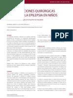 Consideraciones Quirúrgicas Propias de La Epilepsia en - Dr. Manuel Campos y Dr. Felipe Otayza M.