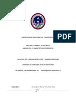 Silabo de Investigacion Operativa II