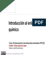 1-1 Introduccion Al Enlace Químico