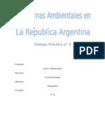 Problemas ambientales en la Republica Argentina