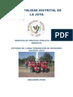 Estudio de Caracterización de RR.SS. del distrito de La Joya 2015