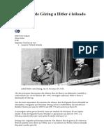 Telegrama de Göring a Hitler é Leiloado Nos EUA