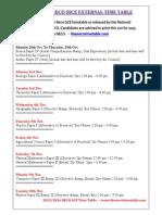 Neco Gce Timetable 2015
